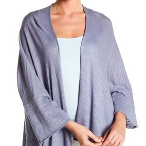 Solutions Sheer Slub Knit Kimono